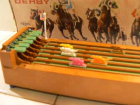 Vintage The DERBY Game Horse Racing Battery Operated By Bandai