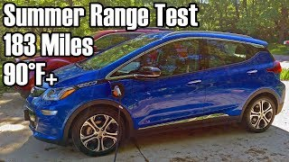 Chevy Bolt EV Summer Range Test