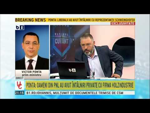 Victor Ponta Sustinem ca forma Codului Silvic sa prevada acea limitare de 30 la suta