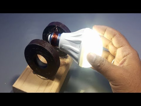 free energy generator for light bulbs 220v using magnet | experiment science projects