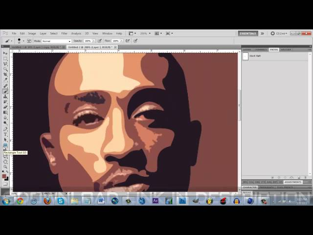 2pac Vector Speed Art (Picture to Cartoon)
