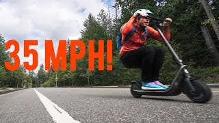 Boosted Rev Scooter - Steep hill bomb at ~35mph (Seattle)