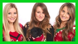 Sister and Puppy Christmas Pictures!
