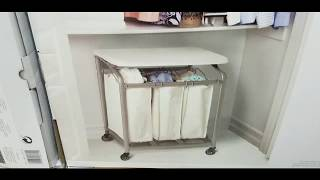Costco! Seville 3 Bag Laundry Sorter w/ Folding Table Cart! $74!!!