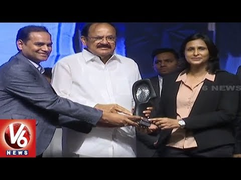 Vice President Venkaiah Naidu Attends HYSEA 26th Annual Summit At HICC | Hyderabad | V6 News