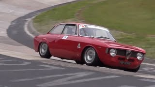 Awesome! Classic Alfa Romeo Compilation on the Nürburgring Nordschleife!