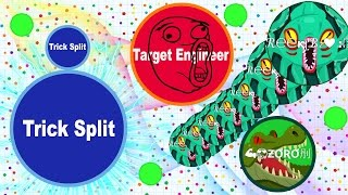 Agar.io 15 Solo Trick Splits (DESTROYING TEAMS IN AGARIO)