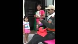 girl cries when given an injection very funny