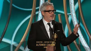 [HD] Alfonso Cuarón Wins Best Director | 2019 Golden Globes