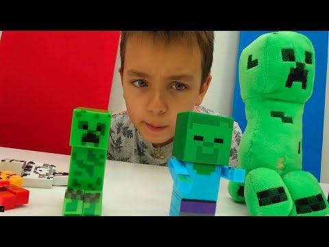 Видео игры #Майнкрафт МОБЫ: Кто самый крутой? Тест Битвы #Minecraft Стива! Игрушки #длямальчиков