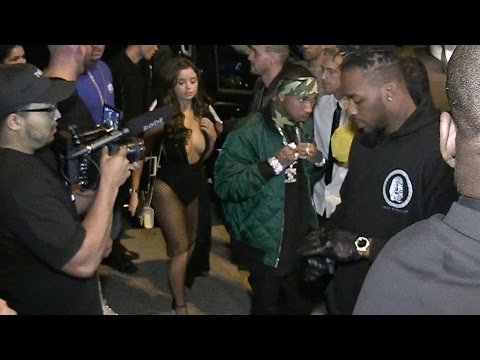 EXCLUSIVE - Tyga and girlfriend Demi Rose showing off ample assets in Cannes