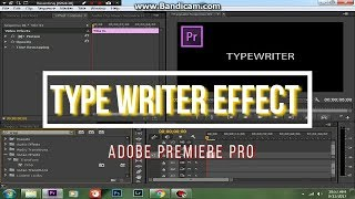 How to Create Typewriter Text Effect Adobe Premiere Pro CC