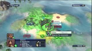 Civilization Revolution Playthrough Day 1 (PS3)