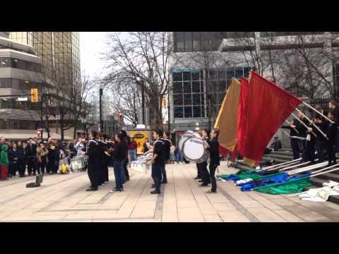 Sardis High School Drumline at the Vancouver Art Gallery