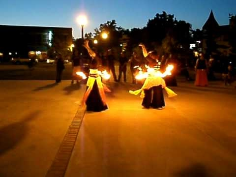 Luna and Ona Bellydance with Fire