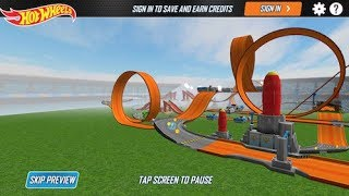 HOT WHEELS TRACK BUILDER GAME Twin Mill III / RatBomb Sets Gameplay Video