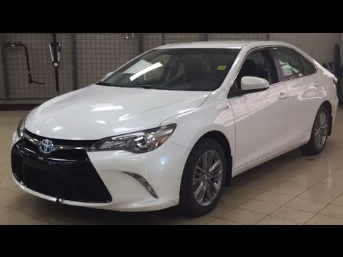 2016 toyota camry hybrid se review youtube