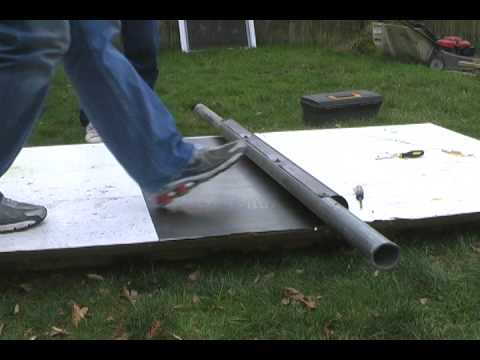 Diy Rolling Sheet Metal For Vawt 1st In Series Youtube