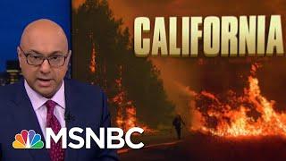President Donald Trump Tweet Wrong, Unhelpful To California Firefighters | Rachel Maddow | MSNBC