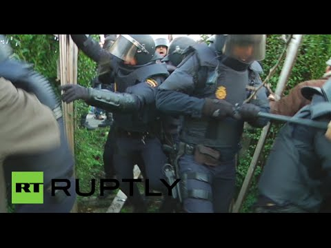 Riot police clash with activists trying to prevent eviction of 72yo woman