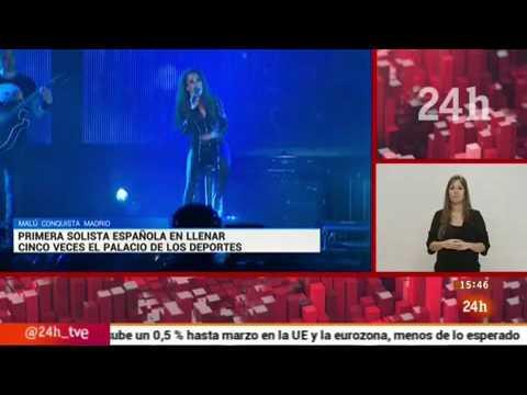 Malú conquista Madrid - Telediario RTVE | 13/05/2016 | @NoticiasMalu