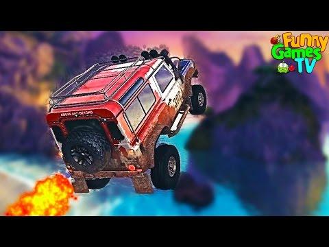 Игровой мультик про машинки Экстремальные трюки крутые тачки Гонки на бешеных скоростях для детей