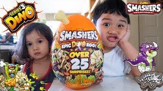 Unboxing Zuru Smashers Series 3 Epic Dino Egg Surprise! Smash Dig Build Slime Fizz Toy Review