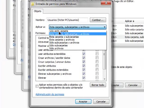 Como Cambiar Permisos en Windows 7