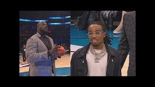 Shaq Cheats vs Migos Quavo  Kenny With 2 Chainz During Shooting Contest! 2019 NBA All Star Weekend