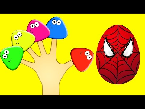 download lagu Surprise Eggs Spiderman POU Finger Family Colors Learn gratis