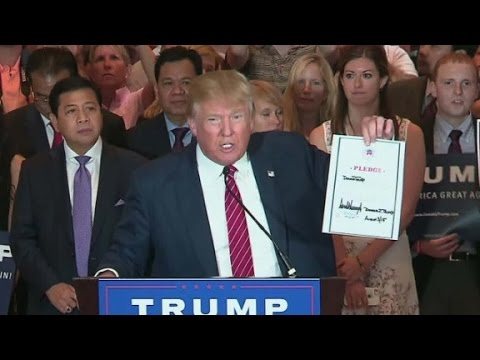 Donald Trump signs loyalty pledge with GOP