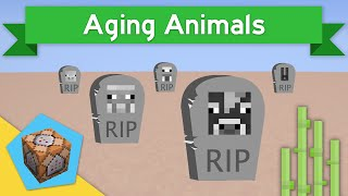 AGING ANIMALS in Vanilla Minecraft 1.10+ | Aging Animals Command Block Creation