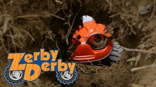Zerby Derby | TUNNEL COLLAPSE | Full Episodes | Kids Cars