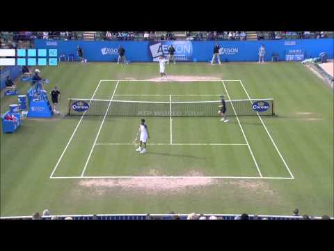 Feliciano Lopez v Gilles Simon Aegon International Final