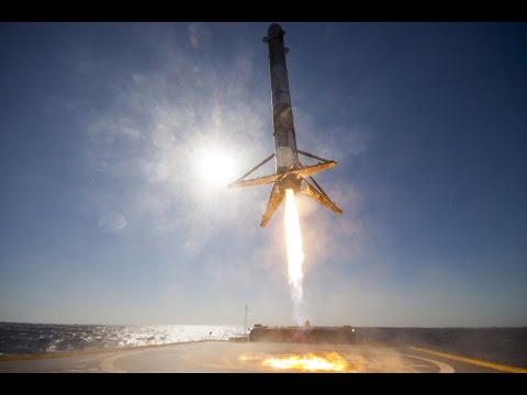 Elon Musk SpaceX Falcon 9 lands on a barge at Sea Astronomer Derrick PItts explains