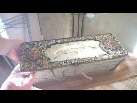 Необычный декор подарочного короба своими руками