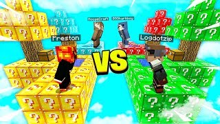 MINECRAFT 1v1v1v1 *OVERPOWERED* LUCKY BLOCK BATTLE with MooseCraft! - Minecraft Mods