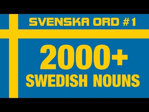 2000+ Common Swedish Nouns with Pronunciation · Vocabulary Words · Svenska Ord #1