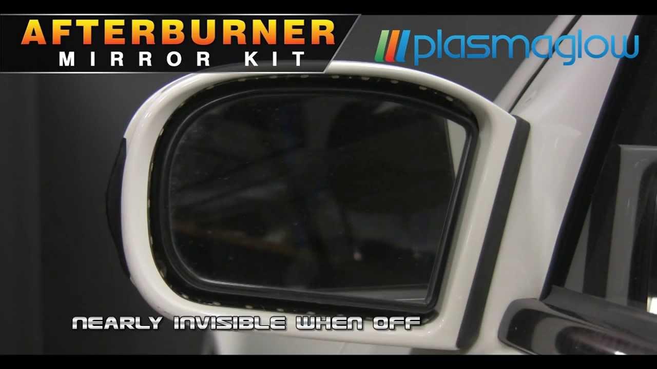 plasmaglow afterburner led mirror kit youtube. Black Bedroom Furniture Sets. Home Design Ideas