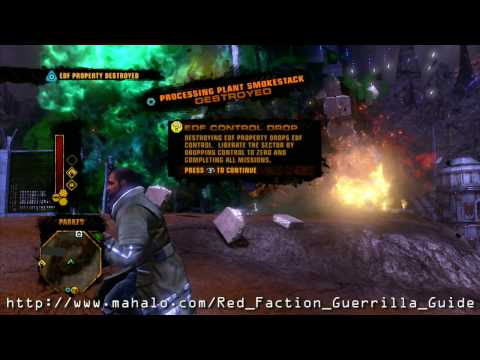 Red Faction Guerrilla Walkthrough - Parker Sector - EDF Assault #1