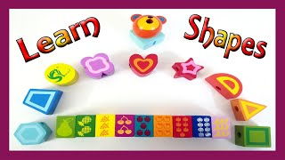 Learn Numbers Shapes and Colors with Wooden Shape Toy For Toddlers   Video for Kids  