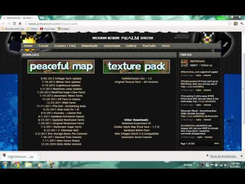 Minecraft 1.4.4 Tutorial (HD) - How to Install a Texture Pack (32x AntVenom)
