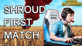Shrouds FIRST Time Playing PUBG - Player Unknown's Battlegrounds