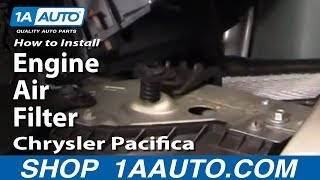 How To Install Replace Engine Air Filter Chrysler Pacifica 04-08 1AAuto.com