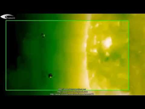 Review of UFOs activity in circumsolar space in images NASA Solar Observatory - March 28, 2013