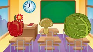 Learning for children: vegetables | Learning for babies: vegetables | Teach babies: vegetables
