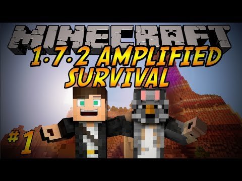 Minecraft: 1.7.2 Amplified Survival Ep 1: AWESOME VILLAGE