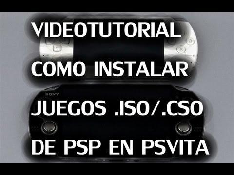 Tutorial juegos ISO/CSO de PSP en PSVITA (Firmware necesario 1.81 o anterior)