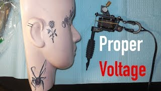 Setting the Correct Voltage - How To Tattoo
