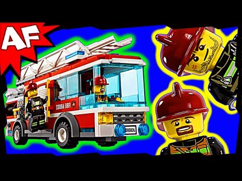 FIRE TRUCK - Lego City Set 60002 Animated Building Review
